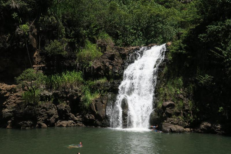 Waimea Falls, no North Shore de Oahu